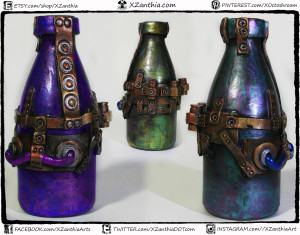simple 5in steampunk bottle color